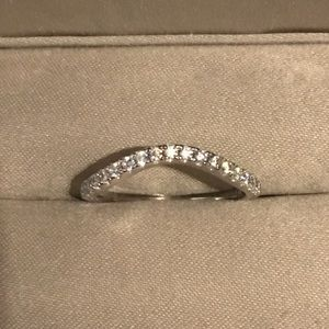Jewelry - ❤️ 925 Silver Curve Wedding Band Stackable Ring
